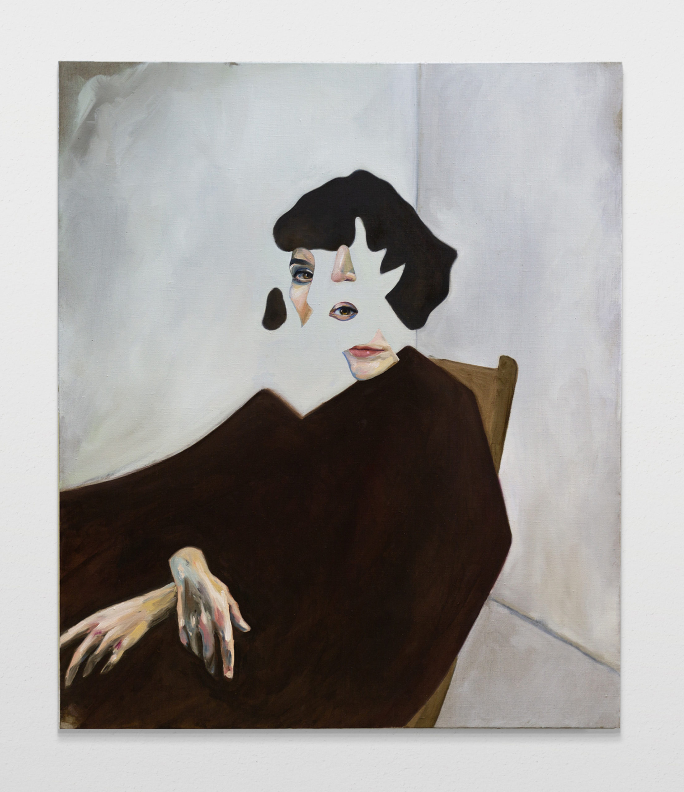 Seated woman, oil on linen, 120x100cm