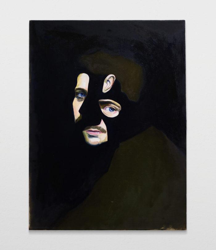 Man in green, oil on linen, 80x60cm