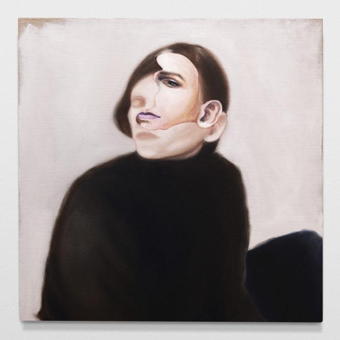 Seated woman II, oil on linen, 70x70cm