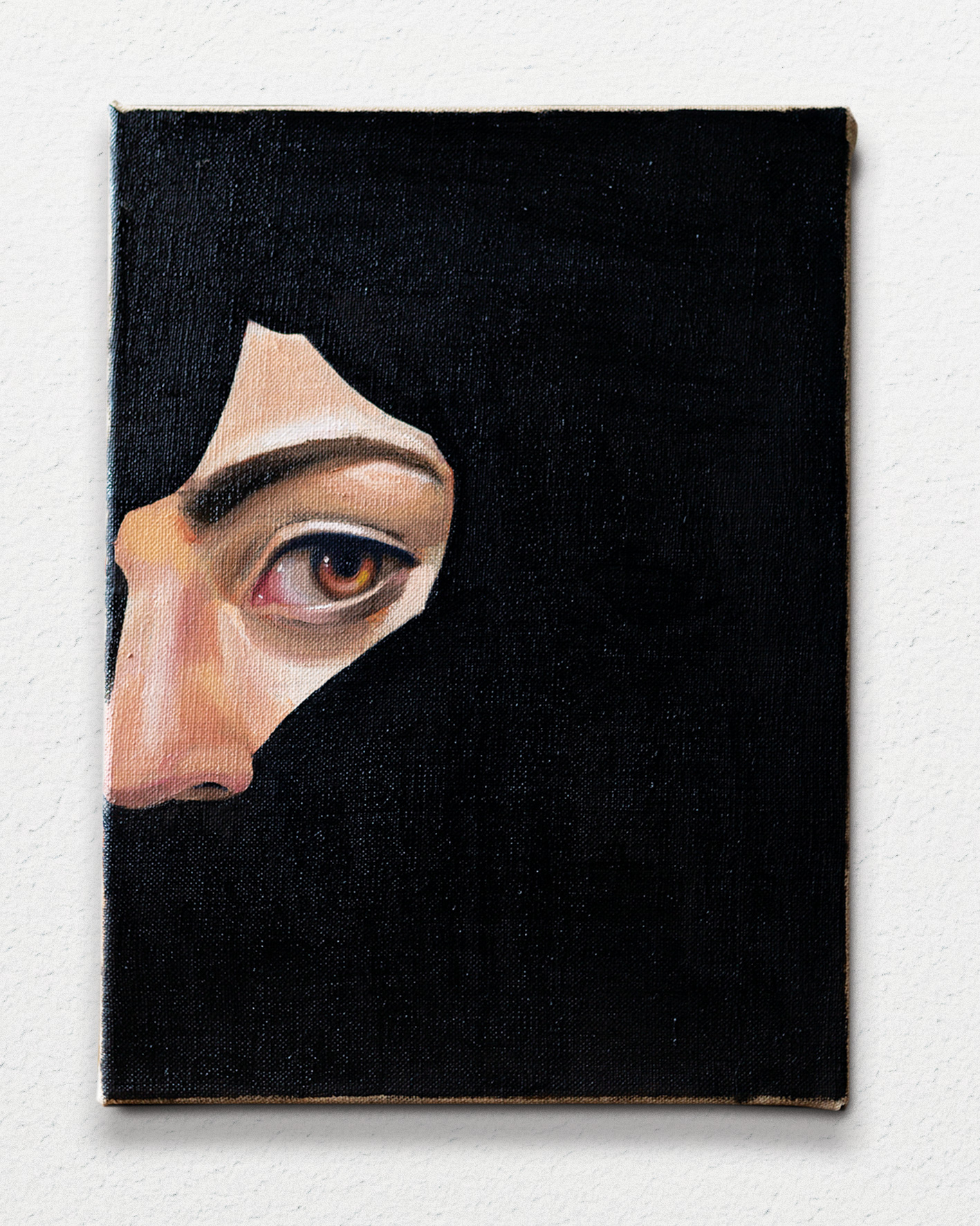 Black diptych II, 32x24cm, oil on linen