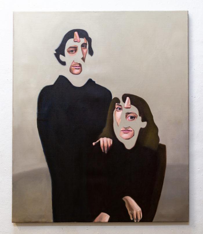 Family Portrait, oil on linen, 120x100cm
