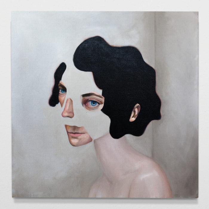 Nude woman I, oil on linen, 70x70cm