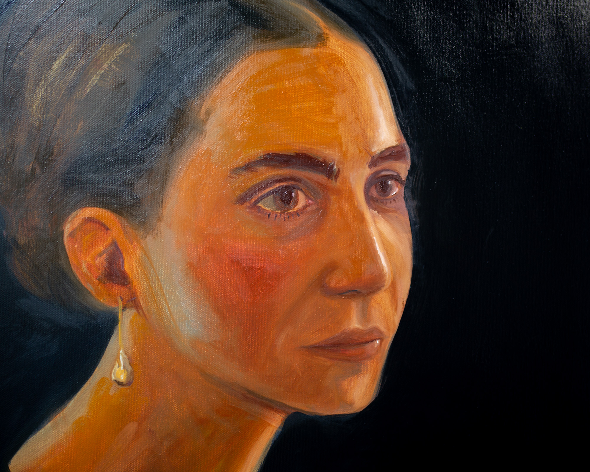 Study for a head (portrait of Julia) detail, 2020