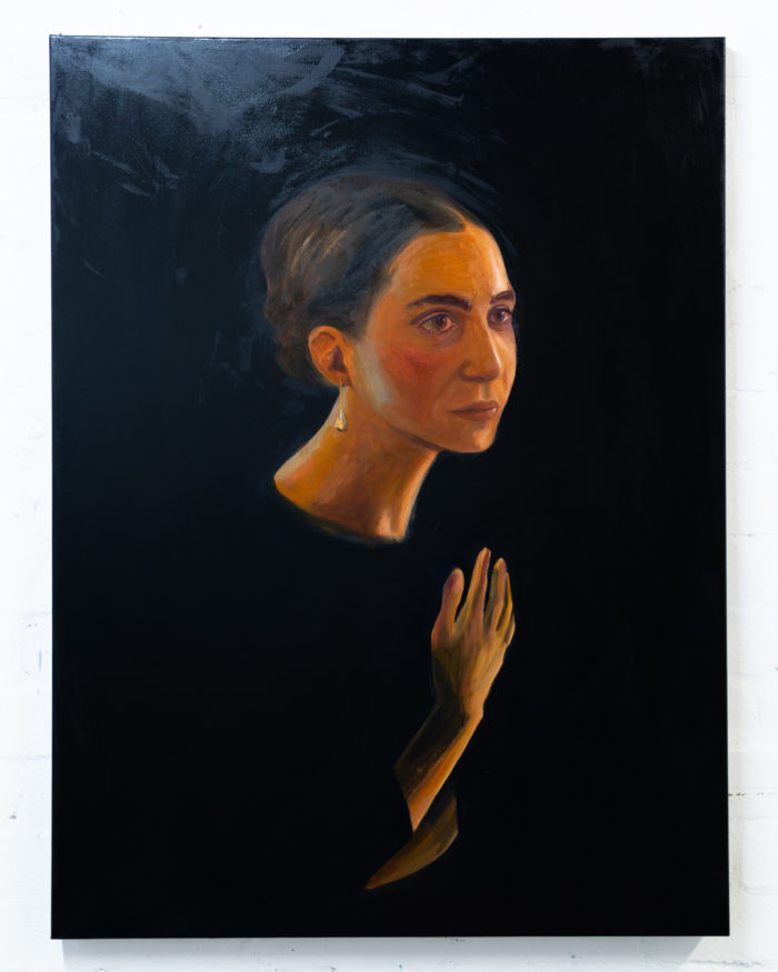 Study for a head (portrait of Julia), 2020, oil on canvas, 101x76cm