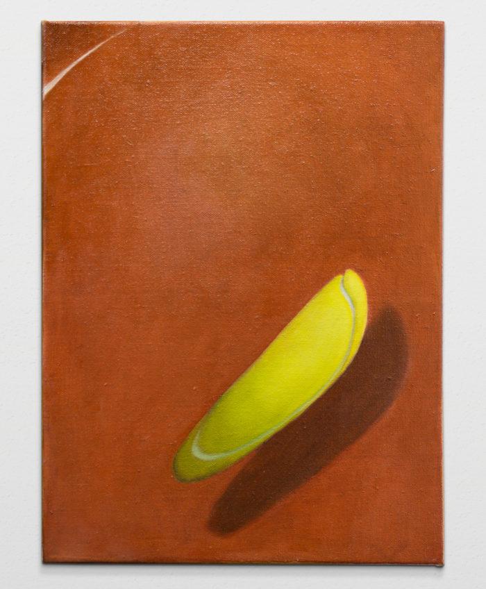 Tennis ball study, 2020, oil on linen, 41x30cm
