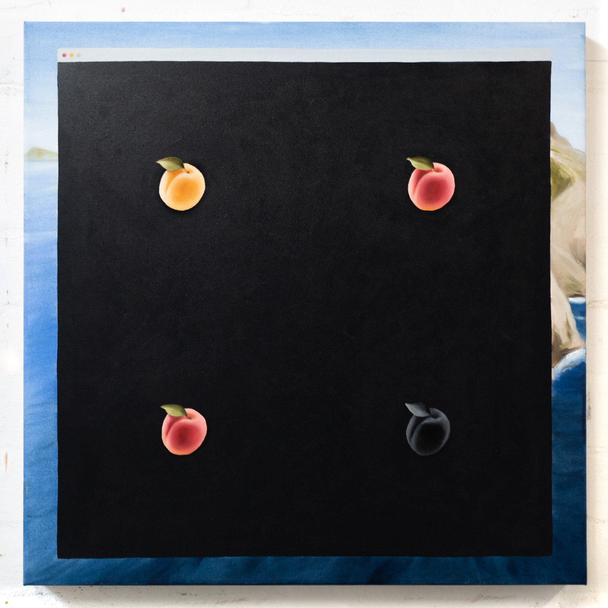 Still life with apricots, 2020, oil on linen, 63x63cm