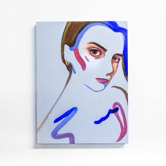 jelouissa (Portrait Study 7), 2020, 30x23cm, Oil and acrylic on board