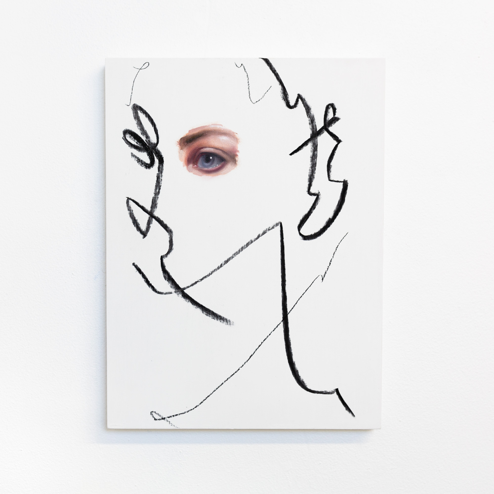 Portrait study 7, 2020, 32x23cm, oil on board