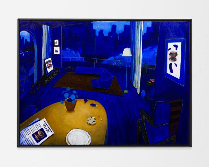 East Melbourne Blue, 2020, 70x107cm, oil on canvas