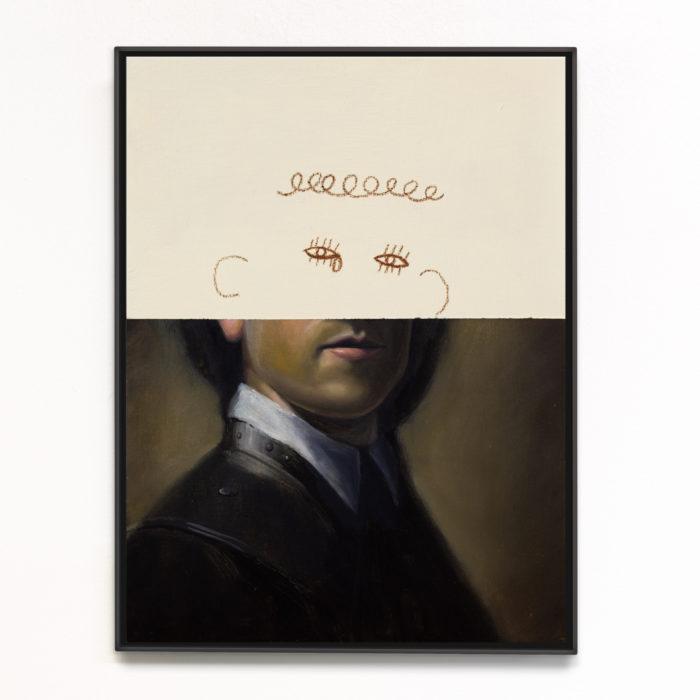 Portrait study 9 (Self portrait as Rembrandt), 2020, 32x23cm, oil on board