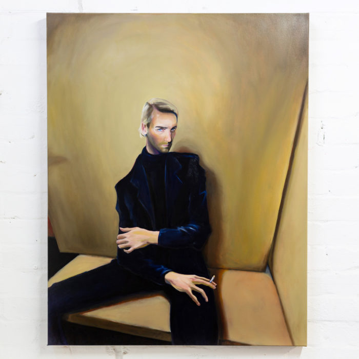 Man in navy, 2020, oil on canvas, 107x84cm