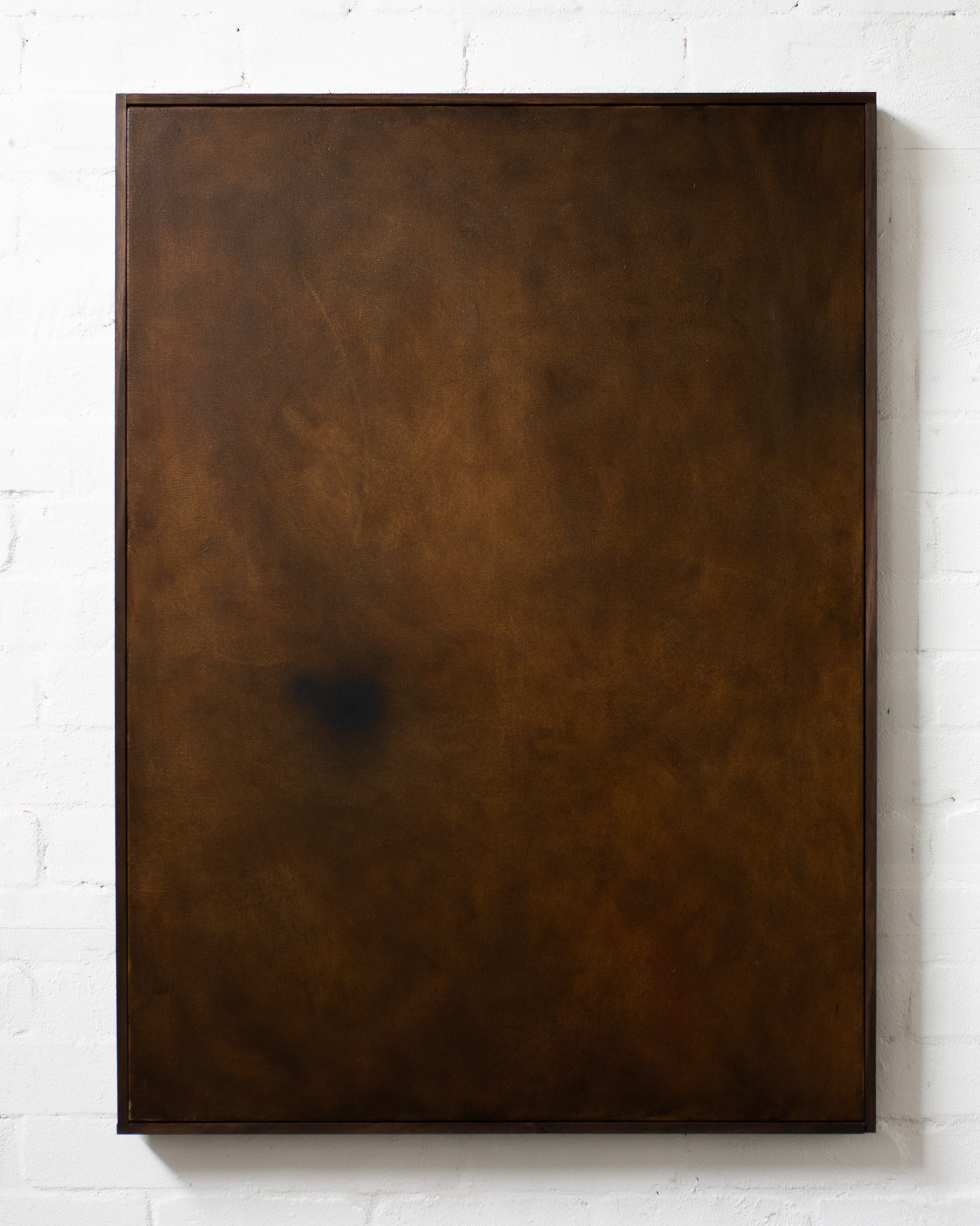 Hold, 2020, oil and spray paint on canvas with artists frame, 109x80x4cm