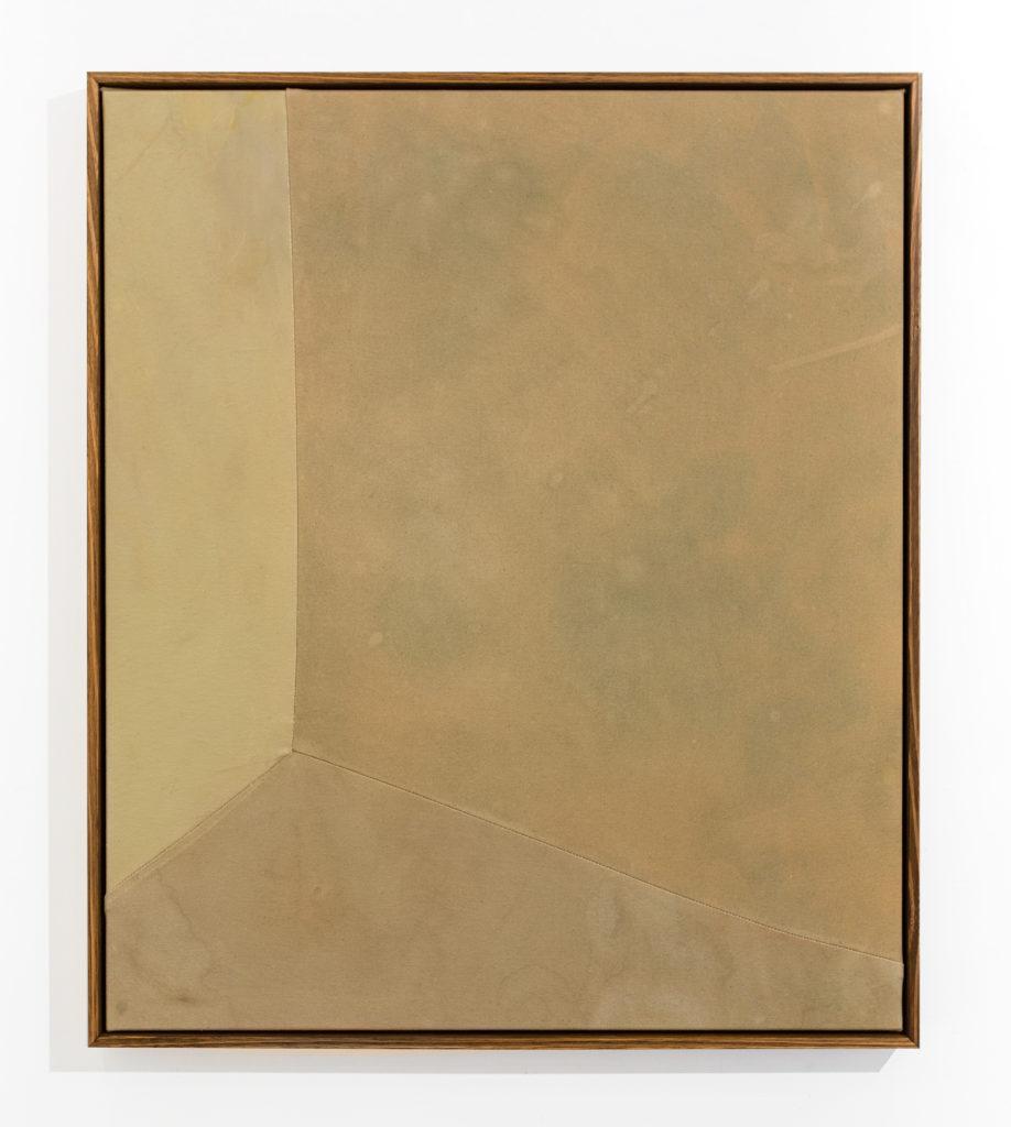 #C4AA85, 2020, oil, watercolour, acrylic on canvas (framed), 86.5x74x5.5cm