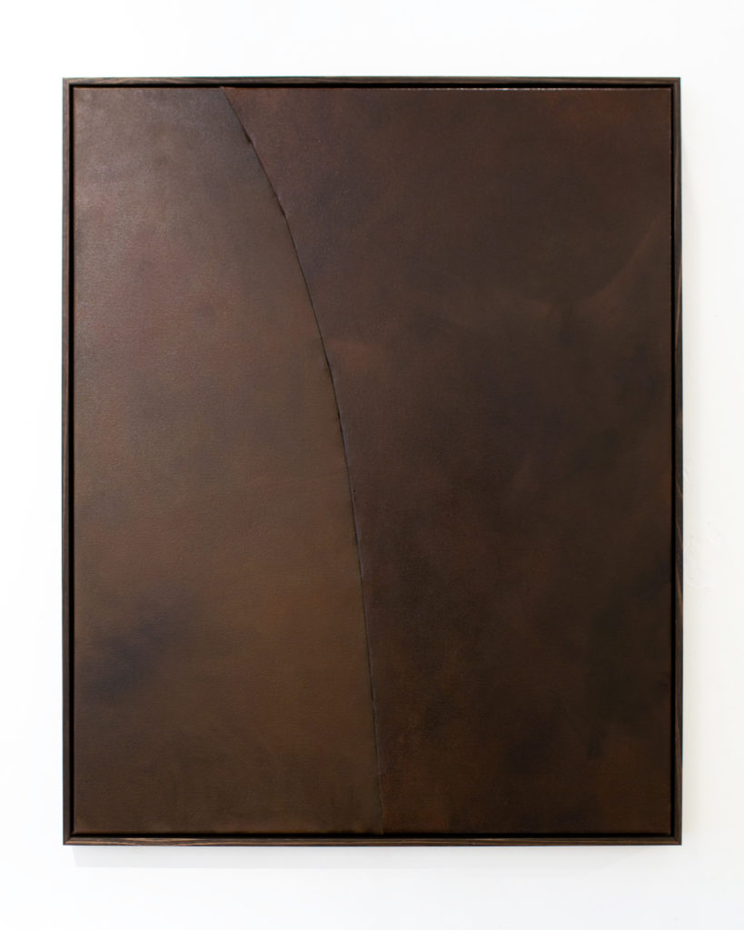 Release, Oil on stitched canvas, Tasmanian Oak frame, 103x83x4cm,